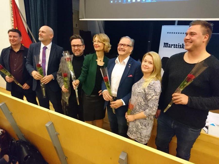 Kuva SDP:n Oulun piirikokouksesta lauantaina 10.11.2018.